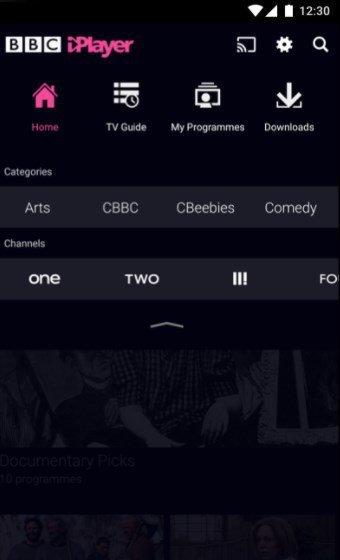 Chromecast sur BBC iPlayer